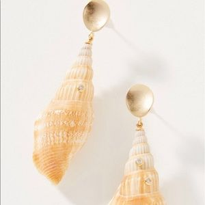 Anthropologie Artemis Shell Drop Earrings New